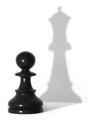 pawn and shadow